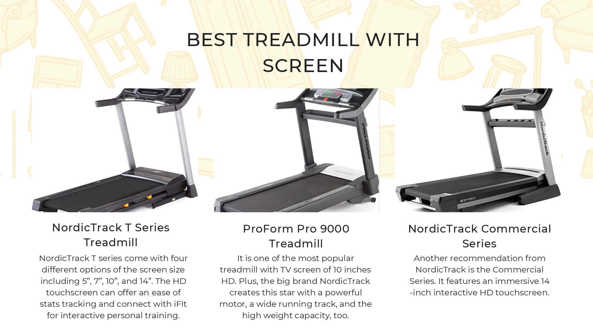 Best Treadmill with Screen 3 Top-rated Options for 2021