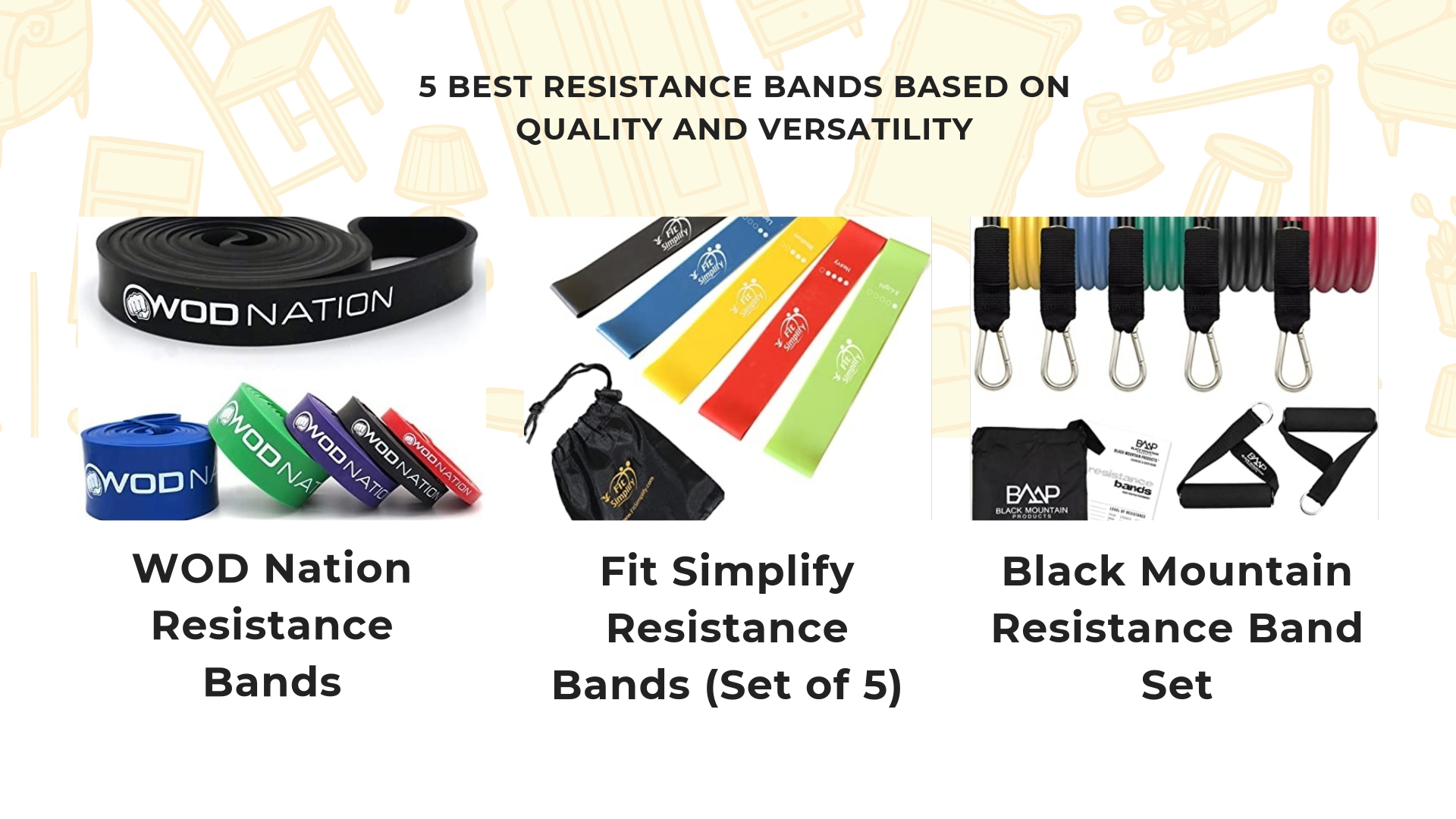 5 Best Resistance Bands Based On Quality And Versatility